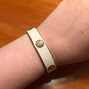 Jewelry - White and gold magnetic closure bangle!